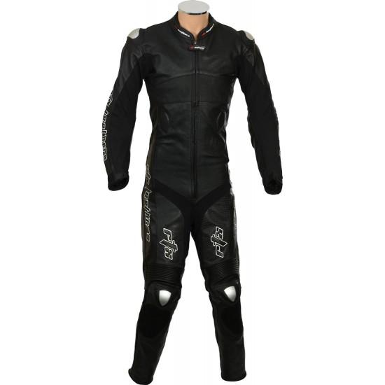 RTX Panther Black Sports Biker Race Leather One Piece Suit