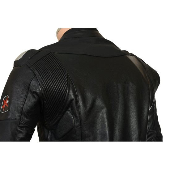 RTX Panther Black Sports Biker Race Leather One Piece Suit