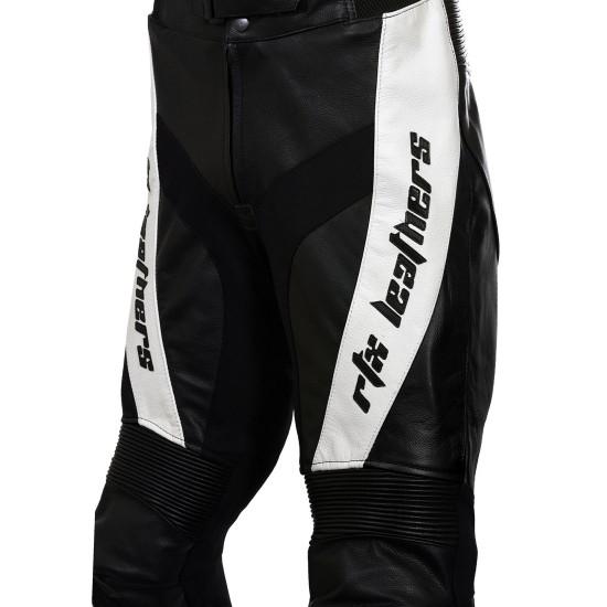 RTX Black Violator Leather Motorcycle Trouser