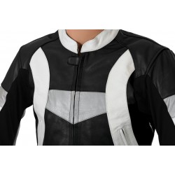 RTX Violator GSXR Black Leather Biker Jacket
