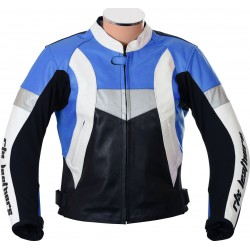 RTX Violator GSXR Blue Biker Leather