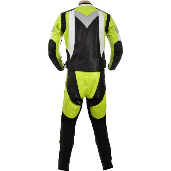 RTX Violator GSXR Fluorescent Yellow Biker Leathers