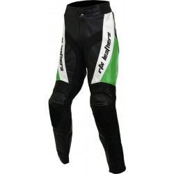 RTX Green Violator Leather Motorcycle Trouser