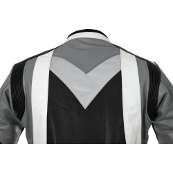 RTX Violator GSXR Grey Leather Biker Jacket