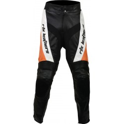 RTX Orange Violator Leather Motorcycle Trouser