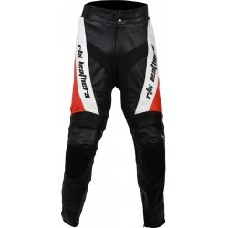 RTX Red Violator Leather Motorcycle Trouser
