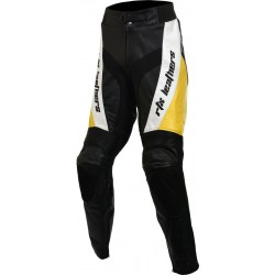 RTX Yellow Violator leather Motorcycle Trouser