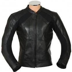 RTX Black Supersport Leather Biker Jacket