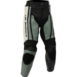 Raptor Grey Motorcycle Leather Biker Trouser