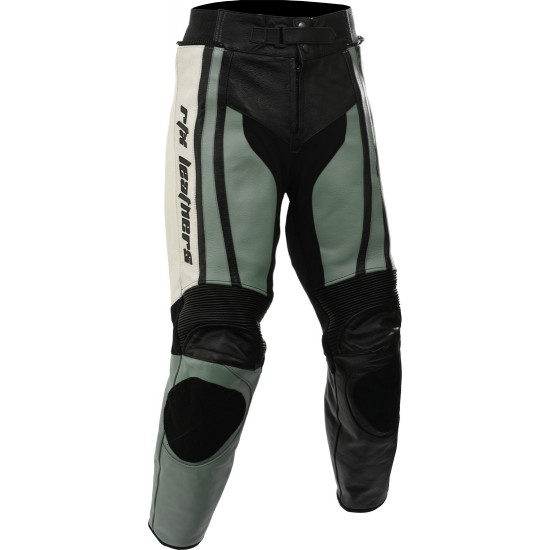 Raptor Grey Motorcycle Leather Biker Trouser