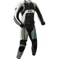 Raptor Grey Motorcycle Leather 2Pc Suit