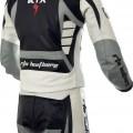560 Raptor Grey Leather Biker Suit
