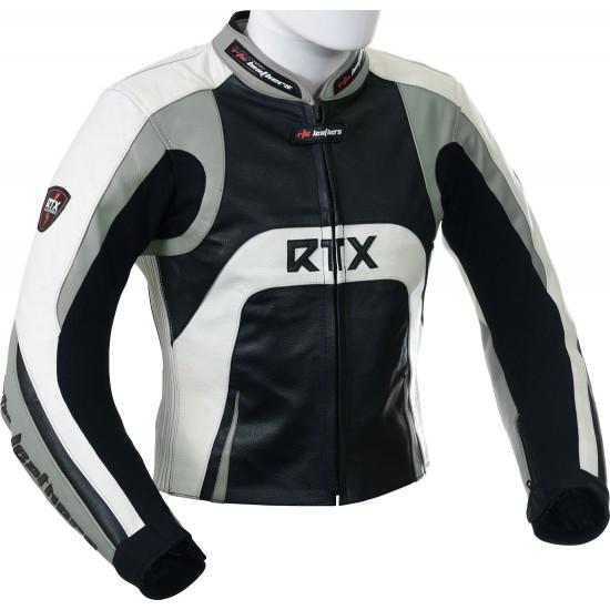 Raptor Grey Motorcycle Leather Biker Jacket