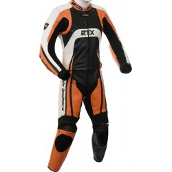 Raptor Orange Motorcycle Leather 2Pc Suit