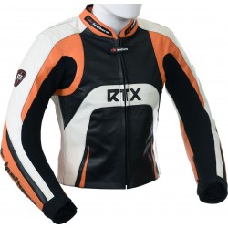 Raptor Orange Motorcycle Leather Biker Jacket