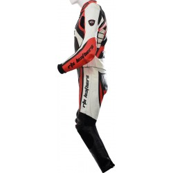 Raptor Red Motorcycle Leather 2Pc Suit