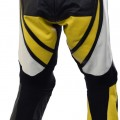 560 Raptor Yellow Leather Biker Trousers