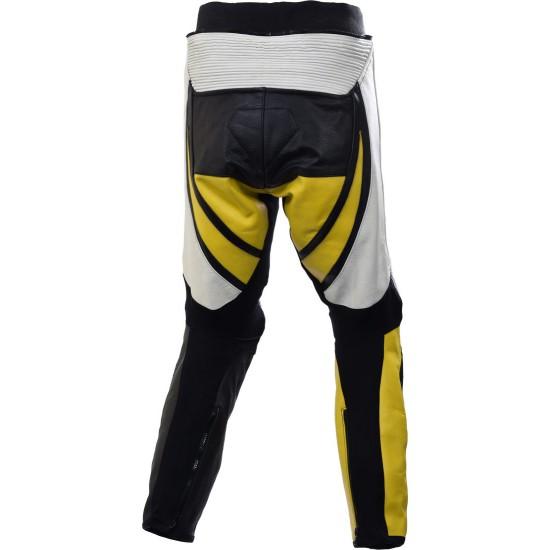 Raptor Yellow Motorcycle Leather Biker Trouser