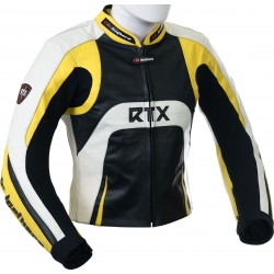 Raptor Yellow Motorcycle Leather Biker Jacket