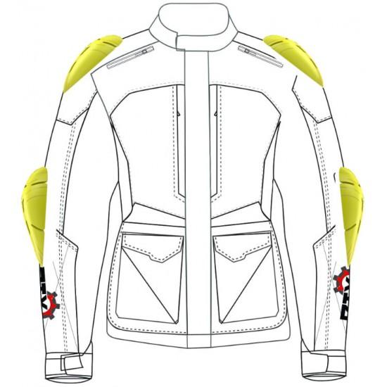 Forcefield Isolator PU Level 2 Professional Race Grade Armour Motorcycle Biker Jacket Insert 5 Piece Upgrade Set 001