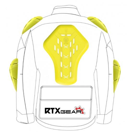 Forcefield Isolator PU Level 2 Professional Race Grade Armour Motorcycle Biker Jacket Insert 5 Piece Upgrade Set 002 (XL)