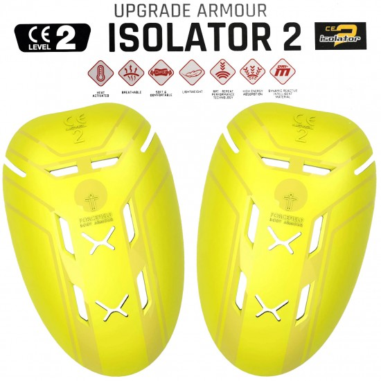Forcefield ISOLATOR CE Level 2 Motorcycle Biker Jacket SHOULDER Inserts Armour Upgrade