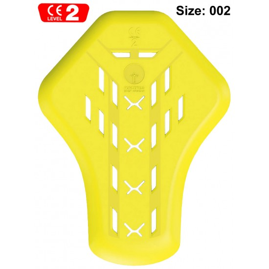 Forcefield Motorcycle Jacket Suit Back Impact Protector Internal Armour Pad CE Level 2 - Size: 002 (XL)