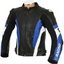 RSV Blue Sports Biker Leather Jacket