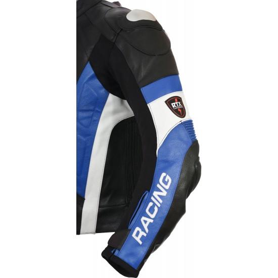 RSV Blue Sports Biker Leather Jacket