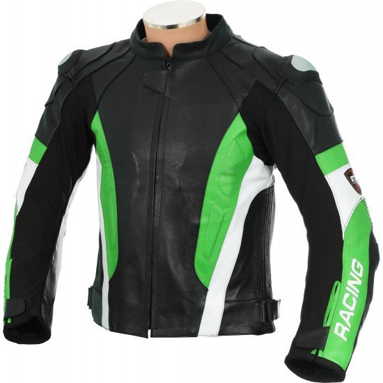 RSV Green Sports Biker Leather Jacket