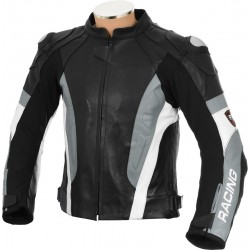 RSV Grey Sports Biker Leather Jacket