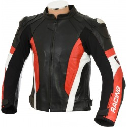 RSV Red Sports Biker Leather Jacket