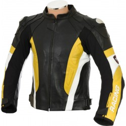 RSV Yellow Sports Biker Leather Jacket