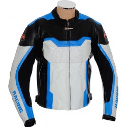 RTX Light Blue Arbiter Sports CE Biker Jacket