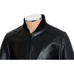 SALE - Aviator Black Leather Bomber Jacket