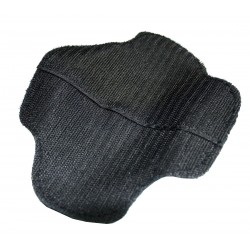 Knee Sliders - Hard Plastic Mould Plain Black Pair