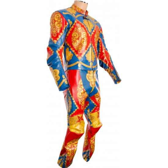 David Bowie Ziggy Stardust Starman Custom Made Leather Costume Suit