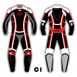 RTX Contender Motorcycle Biker Leather Suit - 8 Colour Choice