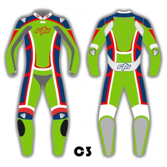 RTX Contender Motorcycle Biker Leather Suit - 8 Colour Choice