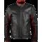 Dark Knight Black Maroon Leather Biker Jacket
