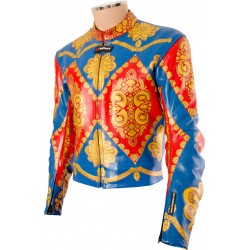David Bowie Ziggy Stardust Starman Custom Made Leather Costume Jacket