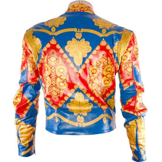 David Bowie Ziggy Stardust Starman Custom Made Leather Costume Jacket