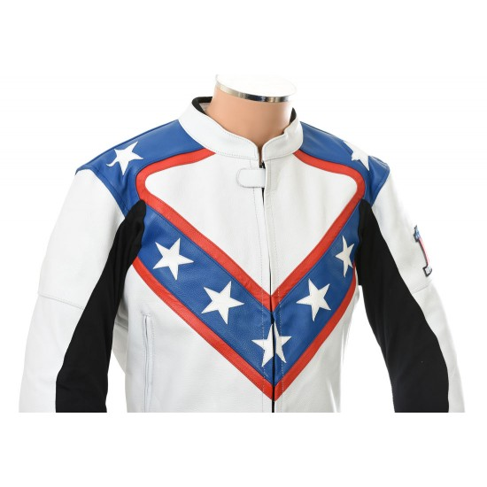 Evel Knievel Fully Armoured Biker Two Piece Leather Suit