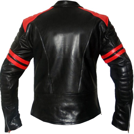 Fight Club Black and Red Replica Casual Leather Jacket