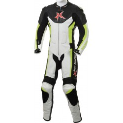 RTX Floro Green Arbiter Sports Biker One Piece Leather Suit