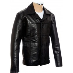 Hitman Codename 47 Black Leather Jacket