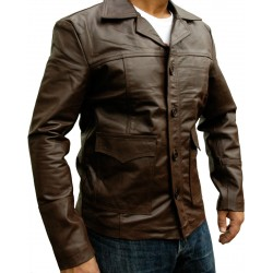 Hitman Codename 47 Brown Leather Jacket