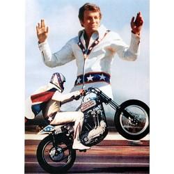 Evel Knievel Fully Armoured Biker Leather Jacket
