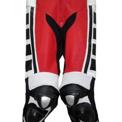 Leguna Seca Red Leather Biker Suit