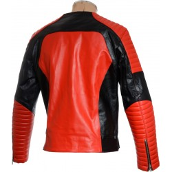 Red HM Leather Biker Jacket